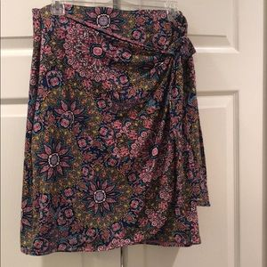 Artisan NY Floral Side Tie Skirt Like New Large